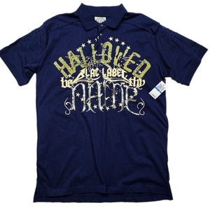 Blac Label Unholy Alliance Graffiti Polo (NWT) XL